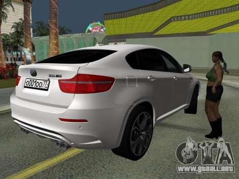 BMW X6M 2010 para vista lateral GTA San Andreas