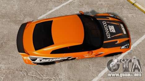 Nissan GT-R 2012 Black Edition NFS Underground para GTA 4 visión correcta