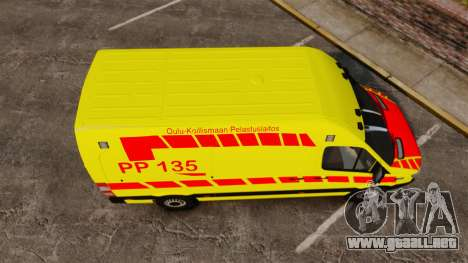 Mercedes-Benz Sprinter Finnish Ambulance [ELS] para GTA 4 visión correcta