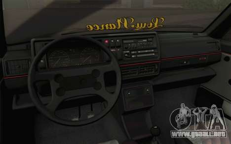 Volkswagen Golf MK2 LowStance para visión interna GTA San Andreas