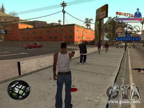 El nuevo C-HUD Ghetto para GTA San Andreas segunda pantalla