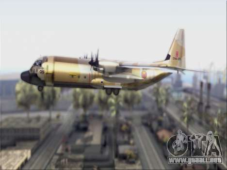 C-130 Hercules Royal Moroccan Air Force para GTA San Andreas vista posterior izquierda