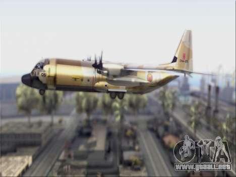C-130 Hercules Royal Moroccan Air Force para GTA San Andreas vista posterior izquierda