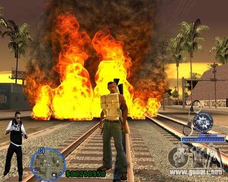 C-HUD For Police Departament para GTA San Andreas sucesivamente de pantalla