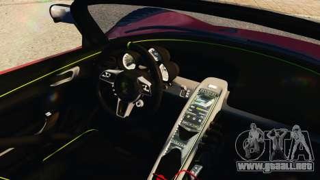 Porsche 918 Spider Body Kit Final para GTA 4 visión correcta