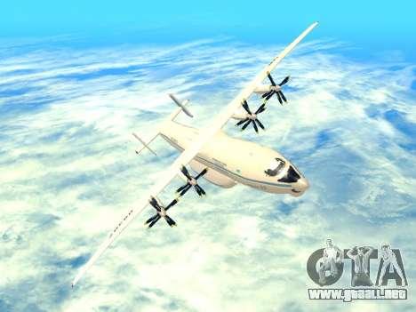 An-22 Antei para vista inferior GTA San Andreas
