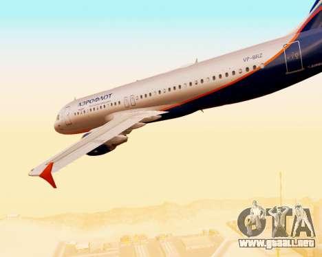 Airbus A320-200 De Aeroflot para vista inferior GTA San Andreas