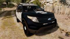Ford Explorer 2013 LCPD [ELS] Black and Gray para GTA 4