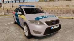 Ford Mondeo Hungarian Police [ELS] para GTA 4