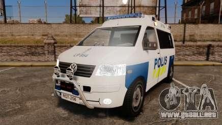 Volkswagen Transporter T5 TDI POLIISI [ELS] para GTA 4