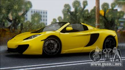 McLaren MP4-12C Spider para GTA San Andreas