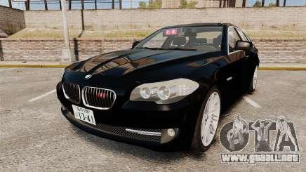 BMW M5 F10 2012 Japanese Unmarked Police [ELS] para GTA 4