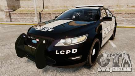Ford Taurus LCPD Interceptor 2011 [ELS] para GTA 4