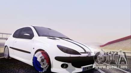 Peugeot 206 Mehmet ALAN para GTA San Andreas