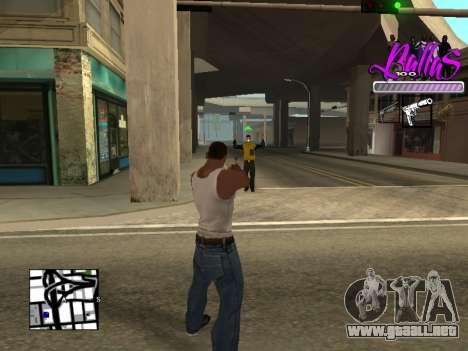 New HUD Ballas Style para GTA San Andreas tercera pantalla