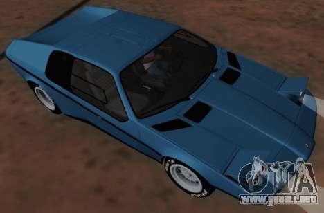 BMW M1 Turbo 1972 para GTA San Andreas vista posterior izquierda