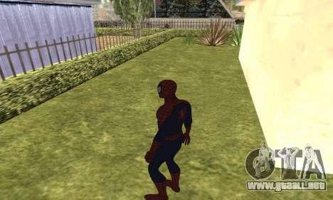 El nuevo spider-man para GTA San Andreas quinta pantalla