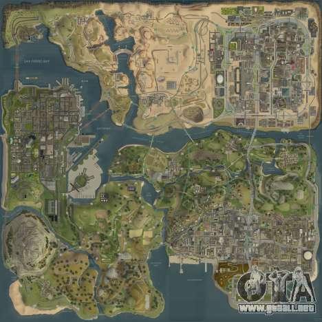 El nuevo mapa en HD para GTA San Andreas
