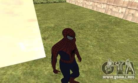 El nuevo spider-man para GTA San Andreas tercera pantalla
