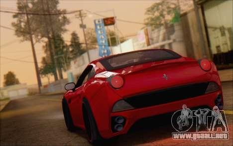Ferrari California v2 para GTA San Andreas left