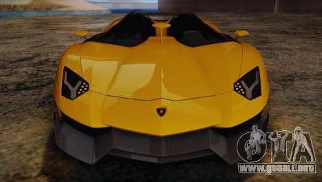 Lamborghini Aventandor J 2010 para vista inferior GTA San Andreas