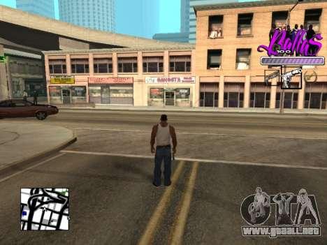 New HUD Ballas Style para GTA San Andreas segunda pantalla