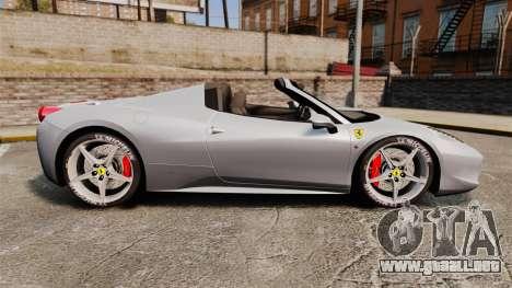 Ferrari 458 Spider para GTA 4 left