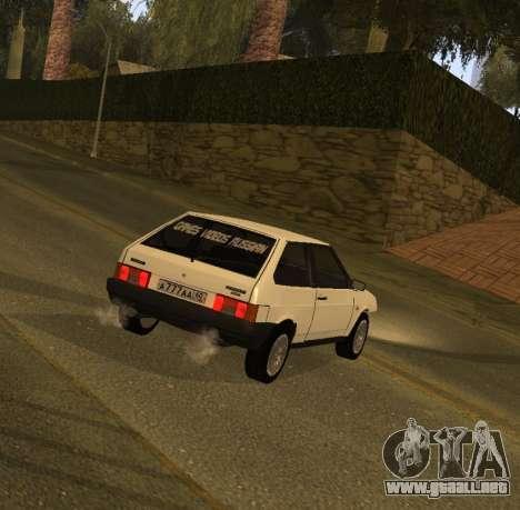 ВАЗ 2108 GVR Versión 1.2 para GTA San Andreas left