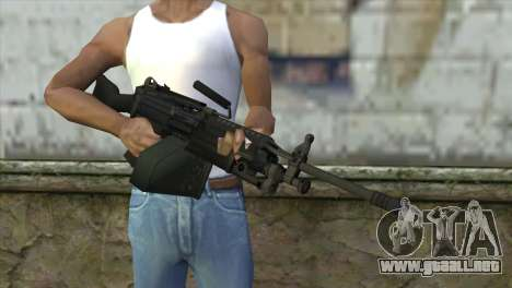 M249 SAW Machine Gun para GTA San Andreas tercera pantalla