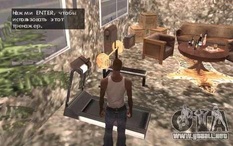 El sótano de la casa de Carl para GTA San Andreas séptima pantalla