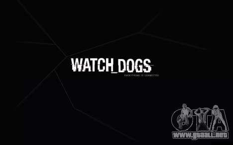 Arranque de las pantallas y menús de Watch Dogs para GTA San Andreas segunda pantalla