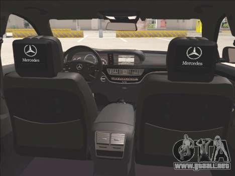 Mercedes-Benz S65 AMG 2012 para vista lateral GTA San Andreas