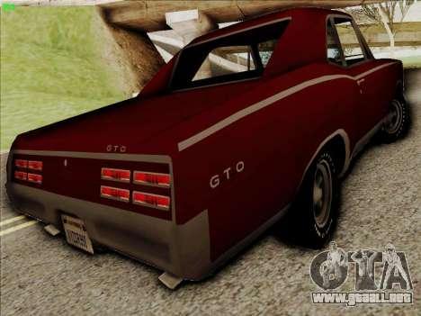 Pontiac GTO 1967 para la visión correcta GTA San Andreas