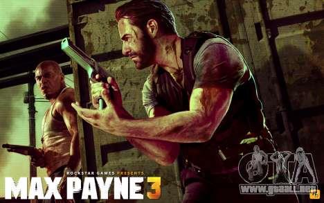 Inicio pantallas de Max Payne 3 HD para GTA San Andreas quinta pantalla