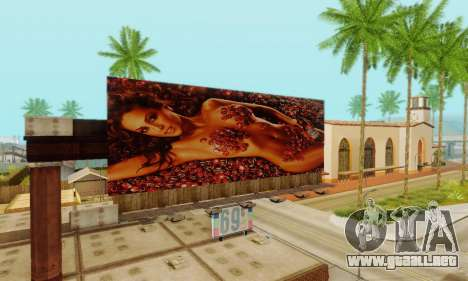 Nuevo de alta calidad de la publicidad en los ca para GTA San Andreas undécima de pantalla