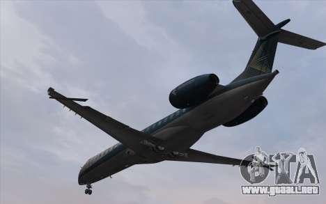 Embraer 145 Xp para GTA San Andreas vista posterior izquierda