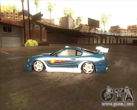 Toyota Supra из NFS most Wanted para GTA San Andreas left