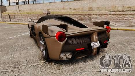 Ferrari LaFerrari v2.0 para GTA 4 Vista posterior izquierda