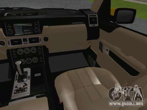 Range Rover Supercharged Series III para GTA San Andreas interior
