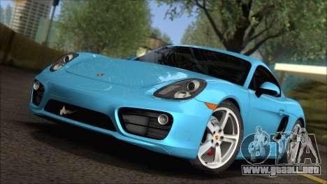 Porsche Cayman S 2014 para GTA San Andreas left