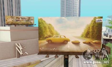 Nuevo de alta calidad de la publicidad en los ca para GTA San Andreas sucesivamente de pantalla