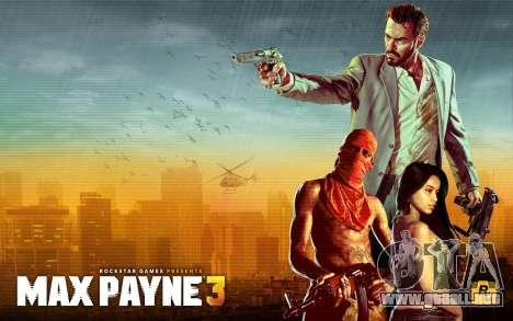 Inicio pantallas de Max Payne 3 HD para GTA San Andreas sucesivamente de pantalla