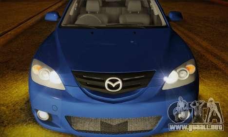 Mazda Axela Sport 2005 para GTA San Andreas vista hacia atrás
