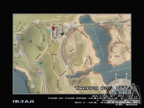 El nuevo mapa en HD para GTA San Andreas segunda pantalla