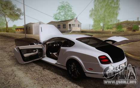 Bentley Continental SuperSports 2010 v2 Finale para el motor de GTA San Andreas