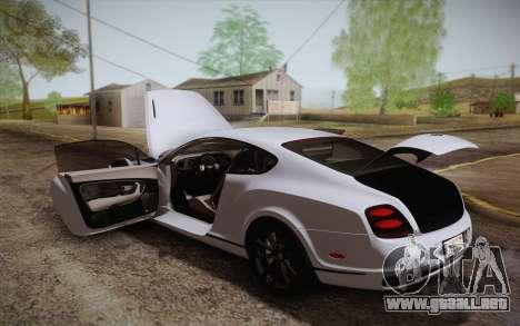 Bentley Continental SuperSports 2010 v2 Finale para el motor de GTA San Andreas
