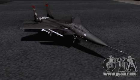 F-15S para GTA San Andreas vista posterior izquierda