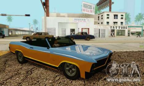 Gta 5 Bucanero actualizado para visión interna GTA San Andreas
