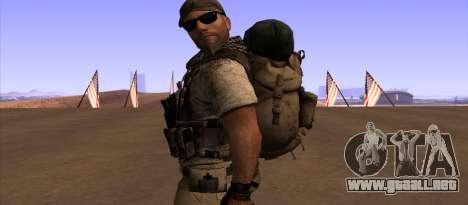 Рюкзак из MOH Warfighter para GTA San Andreas tercera pantalla