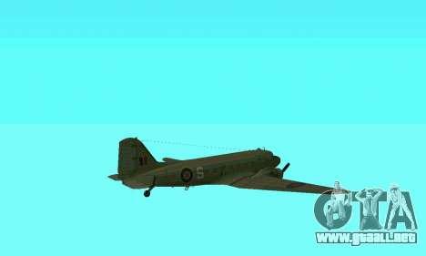 C-47 Dakota RAF para la vista superior GTA San Andreas